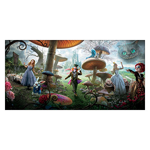Alice in Wonderland. Размер: 120 х 60 см